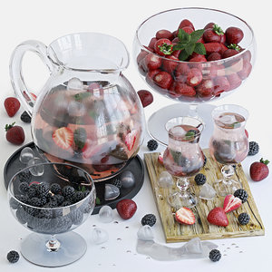 3D decorative lemonade berries