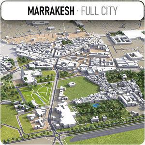 3D marrakesh surrounding - model