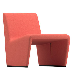 3D patty chair lievore altherr model