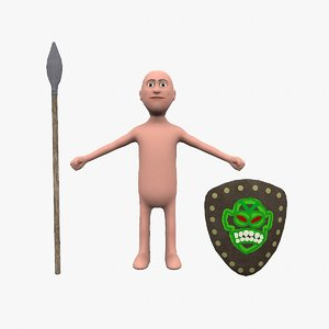 dude simple rigged 3D