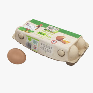 egg carton 001 3D model