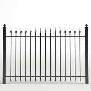 iron fence 3D