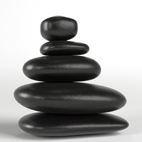 Japanese meditation stones