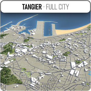 3D model tangier surrounding -