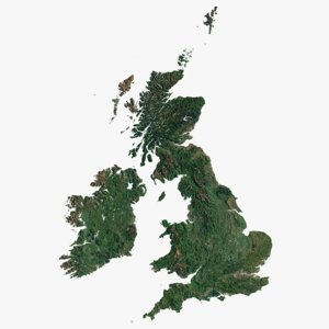british isles photorealistic world 3D model