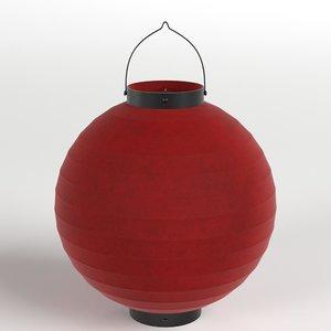 japanese paper lantern 1 3D model