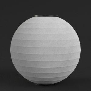 3D model japanese paper lantern 3