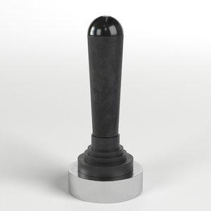 3D lever valve model