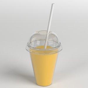 3D juice cup model
