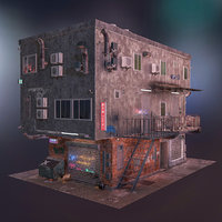 cyberpunk house model