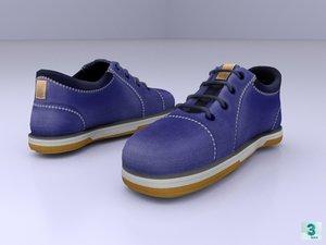 3D shoe shoelace pbr model