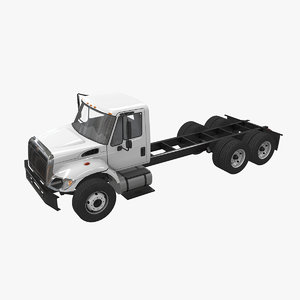 navistar international 7400 chassis 3D model