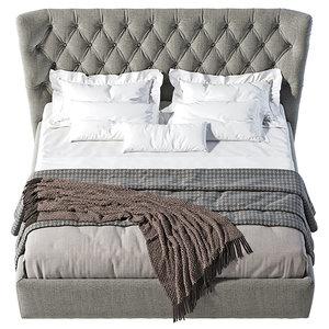 bed pouf 3D