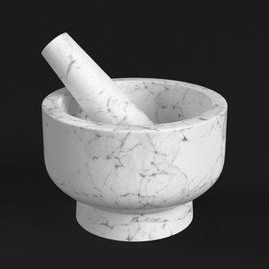 3D kitchen mortar pestle model