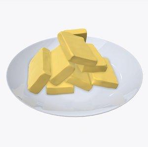 3D model plate butter
