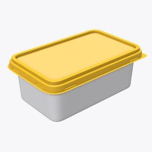 3D rectangular pack package model
