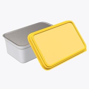 3D model rectangular pack package