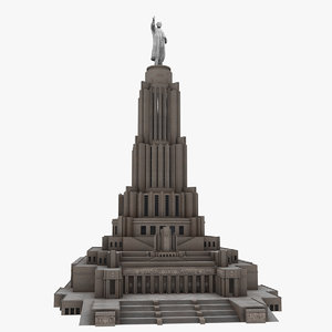 3D palace soviets architectural building model