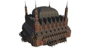 gothic cathedral 02 3D model