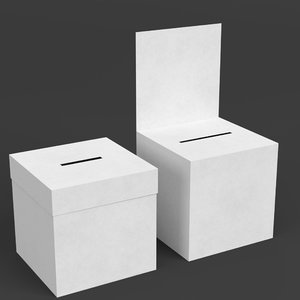 ballot boxes 3D