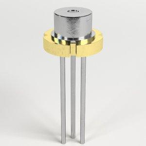 3D laser diode