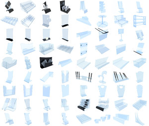 plastic stands paper model