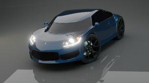3D original concept car - model