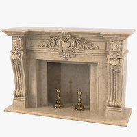 Baroque Marble Fireplace