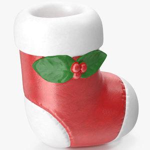 3D christmas sock figurine