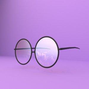cartoon sunglass 3D