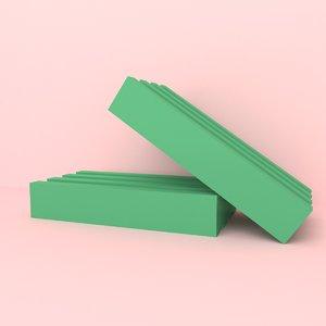 3D soap dish hygiene model