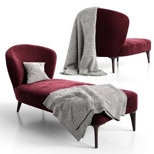 3D chaise-lounge aston minotti model