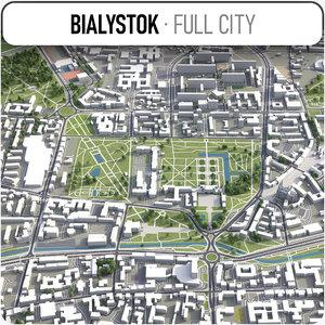 3D city bialystok surrounding - model