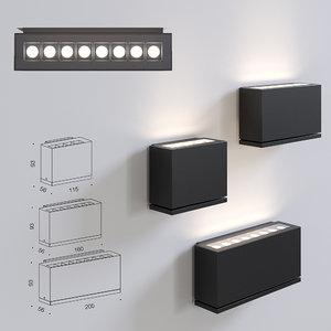 centrsvet mops line wall light 3D model
