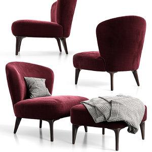 aston armchair minotti model