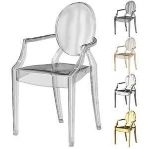 3D plastic transparent kartell ghost