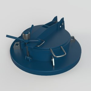 3D manhole hole model