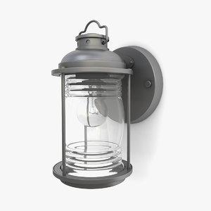 3D outdoor wall lantern 18