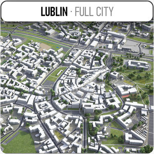3D model lublin surrounding -