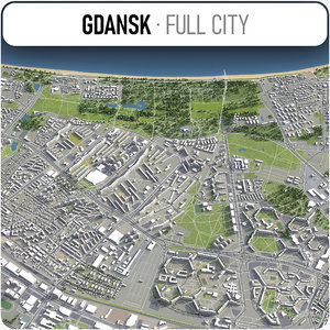gdansk surrounding - 3D