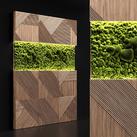 panel stabilized moss 3D model