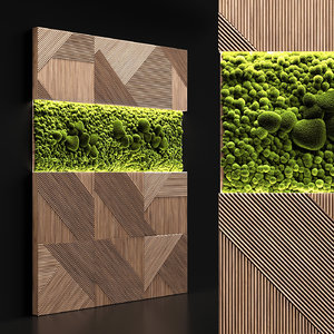 panel stabilized moss 3D model