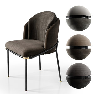 3D chair fil noir minotti