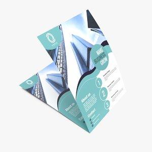 3D flyer design