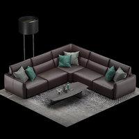 Natuzzi Galaxy sofa corner