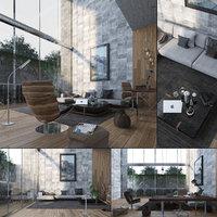 3D new york style livingroom