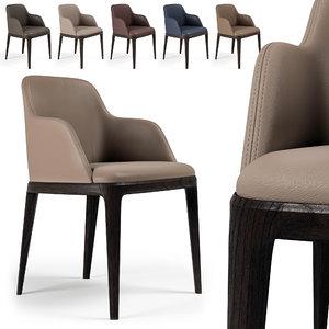 3D grace chair poliform 2