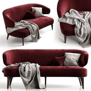 3D aston sofa minotti