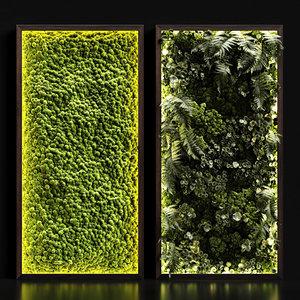 3D moss fern loft model