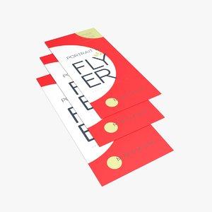 flyer design 3D